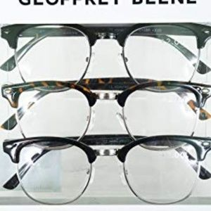 Geoffrey Beene NIB Unisex 3 Pack Reading Glasses